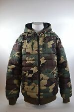 2015 NWOT MENS BILLABONG REVERT CAMO REVERSIBLE JACKET $153 L camo heather black