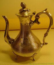 Elégante Verseuse en métal argenté anglais théière ou cafetière