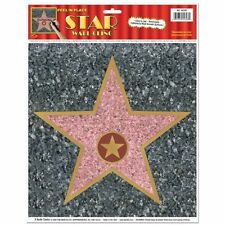 1 Hollywood Award WALK OF FAME STAR CLING Movie Night Party Decoration