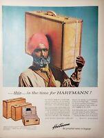 Lot of 3 Vintage Hartman Luggage Print Advertisements Skymates Tourobe Knocabout