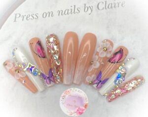 handmade  Press On Nails