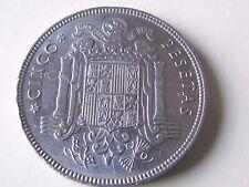España 5 Pesetas, 1949 ESTRELLA 19* 50*  F. FRANCO KM# 778