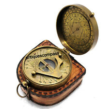 Gilbert Compass Antique Directional With Leather Case Collectible Marine Gift