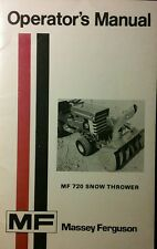 Massey Ferguson MF 7 & 8 Lawn Tractor 720 Snow Thrower Blower Owners Manual 28pg