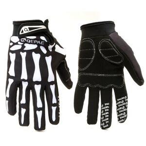 Full Finger Outdoors Skull Gloves Skeleton Men Cycling Bike Motorcycle Riding US