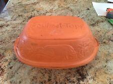 Vintage Gourmet-Topf Terra Cotta Clay Pot Cooker Roaster Usa 1977 #212
