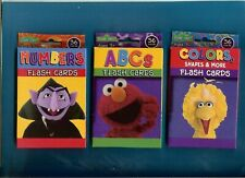 3 PACKS OF SESAME STREET FLASH CARDS - COLORS - NUMBERS - ABC's - 34 CARDS EA.