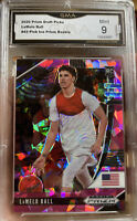 2020-21 Panini Prizm Lamelo Ball Rookie Pink Ice Cracked SP #43 MINT 9 Hornets