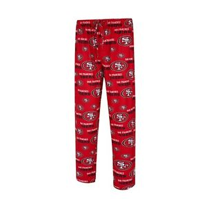 Men's San Francisco 49ers Concepts Sport Royal Zest All Over Print Sleep Pants