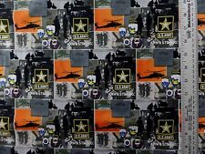 U S ARMY STYLE PATCHES  100% COTTON FABRIC BY THE 1/2 YARD