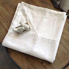 "French Style Cream Tablecloth Cloth 55% Linen 45% Cotton180x270cm  68""x103"""