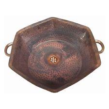 Rustic Shabby Chic Pure Copper Hexagonal Bathroom Handles Sink Remodel