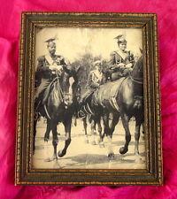 Tsar Nicholas II & Tsarina Alexandra Romanov In Uniform Antique Russian Picture
