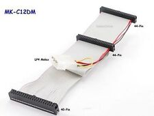 "12"" 40-Pin IDE Female to 2/44-Pin Female Adapter w/ Molex Power Cable, MK-C12DM"