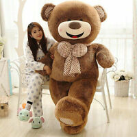 63'' Giant Big Teddy Bear Plush Doll Smileys Hedgehog Bear Shell Toy(Only Cover)