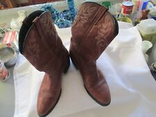 Dingo Brown Leather Cowboy Western Boots Men's Size 11.5 D Style D105981