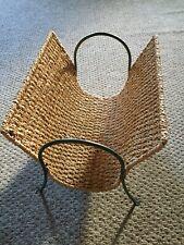 Raffia Newspaper Rack/ Log Or Wood  Holder