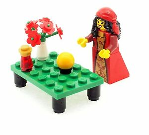 LEGO Female Fortune Teller Minifigure with Table & Accessories NEW