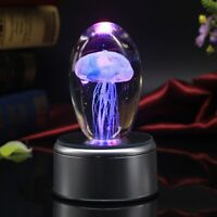 Crystal Jellyfish Music Box Decoration Gift Bluetooth Play Music LCD Lyrics Lamp