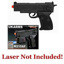 "New 6.75"" Spring Black Airsoft Pistol Gun 75fps Plus 10 BBs Air Soft Clip Toy"