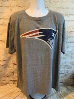 New England Patriots Mens NFL Football Genuine Gray Soft T Shirt Size XL [MQ4]