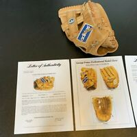 George Foster Signed 1980's Game Used Baseball Glove With PSA DNA COA