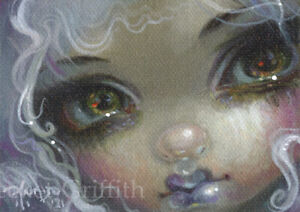 Lilac Lipstick ACEO Jasmine Becket-Griffith art gothic big eyes fairy fantasy
