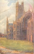 BR80794 gloucester cathedral from south east painting postcard  uk