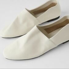 Brand new ZARA  Off White FLAT SOFT LEATHER SHOES US size 10