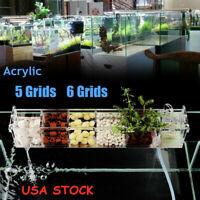 Acrylic Fish Tank 5-6 Grids Aquarium External Hanging Filter Box Without Pump