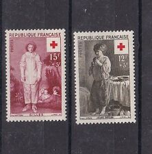 france 1956 Sc B309/10 set,red cross         e201