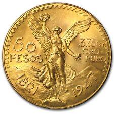 SPECIAL PRICE!  Mexico Gold 50 Pesos Coin AGW 1.2057 AU/BU (Random Year)