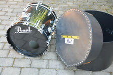 REMO WEATHER KING PINSTRIPE BASS DRUM Basstrommel Pearl mit Koffer; K51