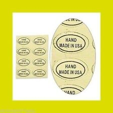 """1,000 Peel Off Adhesive Labels ~ Oval 1/2"""" x 5/16"""" Marked """"Hand Made in Usa"""""""