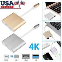 Type C USB 3.1 & Micro USB to USB-C 4K HDMI USB 3.0 Adapter Hub For Macbook Pro