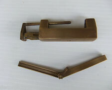 Collectible Asian Chinese Brass Home Hardware Lock w/Key 7.50cm Length LK-03