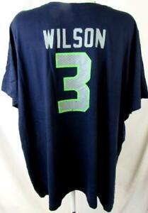 Seattle Seahawks Women Plus Size 4X Russell Wilson #3 Jersey T-shirt ASSE 155