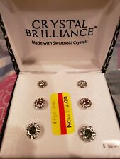 Crystal Brilliance Made with Swarowski Crystals Earrings Retail $60