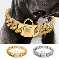 Heavy Duty Luxury Big Dog Collar Stainless Steel Large Dog Chain Collar Necklace