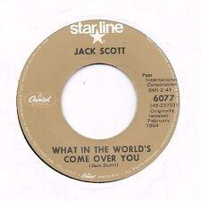 JACK SCOTT * 45 * What In The World's Come Over You / Bridges * 1964 RI STARLINE