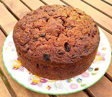 Christmas Fruit Cake 15cm round with Brandy soaked fruit FREE P&P