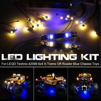 ONLY LED Light Lighting Kit For LEGO Technic 42099 4x4 X-Treme Off-Roader Toys