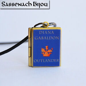 Outlander Book Locket (quote inside) Charm, Keychain or Pendant Necklace