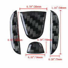 For Honda Civic CRV Accord Carbon Fiber Steering Wheel Center  Insert Trim Cover