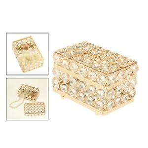 Luxury Crystal Jewelry Box Trinket Organizer Storage Case Dresser Home Decor