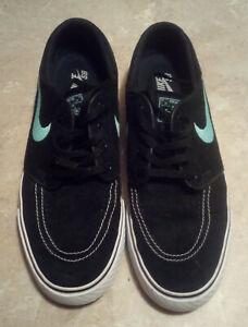 Nikez SB Janoski Shoes Mens Size 10 Black Teal White 333824-003