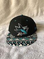 New Era San Jose Sharks NHL Hockey Embroidered Hat Snapback Adjustable Cap