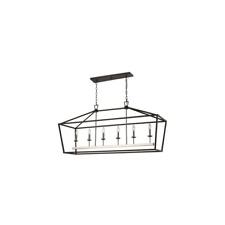 Trans Globe Lighting 10267 Bk/Bn 6Lt Pendant-Xl-Bird Cage-Bk-New Open Box
