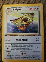 1999 Pidgeot 1st Edition Jungle Set Rare Holo Pokemon Card 8/64 Vintage