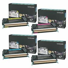 SET Lexmark Genuine C736H1KG C736H1CG C736H1MG C736H1YG Toners For C736 X736
